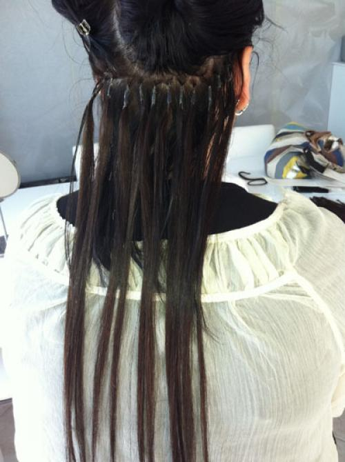 Extension cheveux keratine a froid